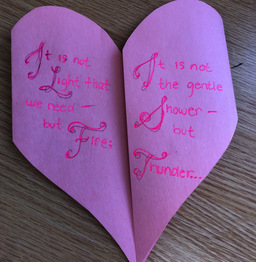 "American Studies Class Creates ""Little Valentines"" in Honor of Frederick Douglass"