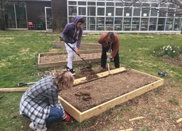 Honors Environmental Science Students Refresh Our School Garden